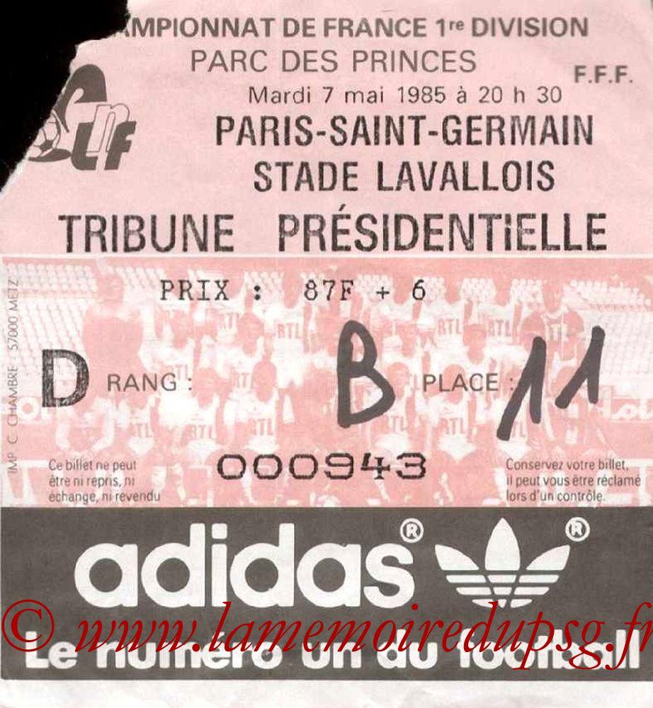 1985-05-07  PSG-Laval (35ème D1)