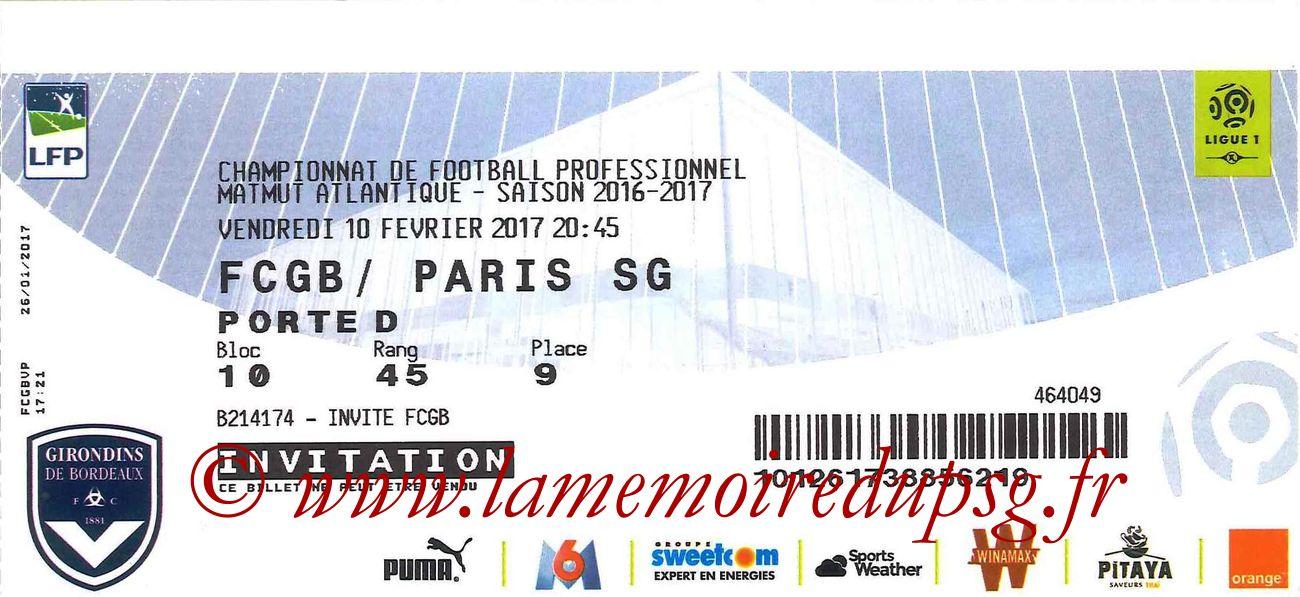 2017-02-10  Bordeaux-PSG (25ème L1)