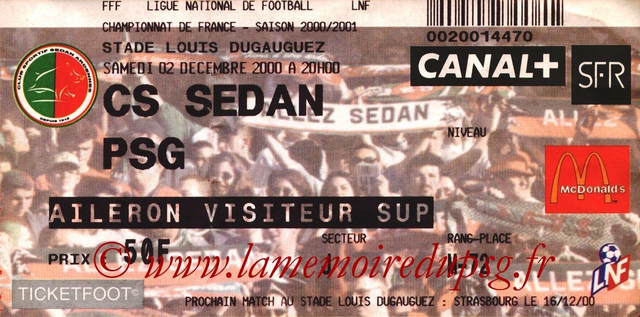2000-12-02  Sedan-PSG (19ème D1)