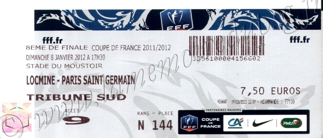 2012-01-08  SC Locminé-PSG (32ème Finale CF à Lorient)