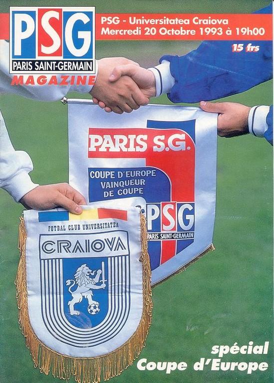 1993-10-20  PSG-Universitatea Craïova (8ème aller C2, PSG Magazine N° HS)