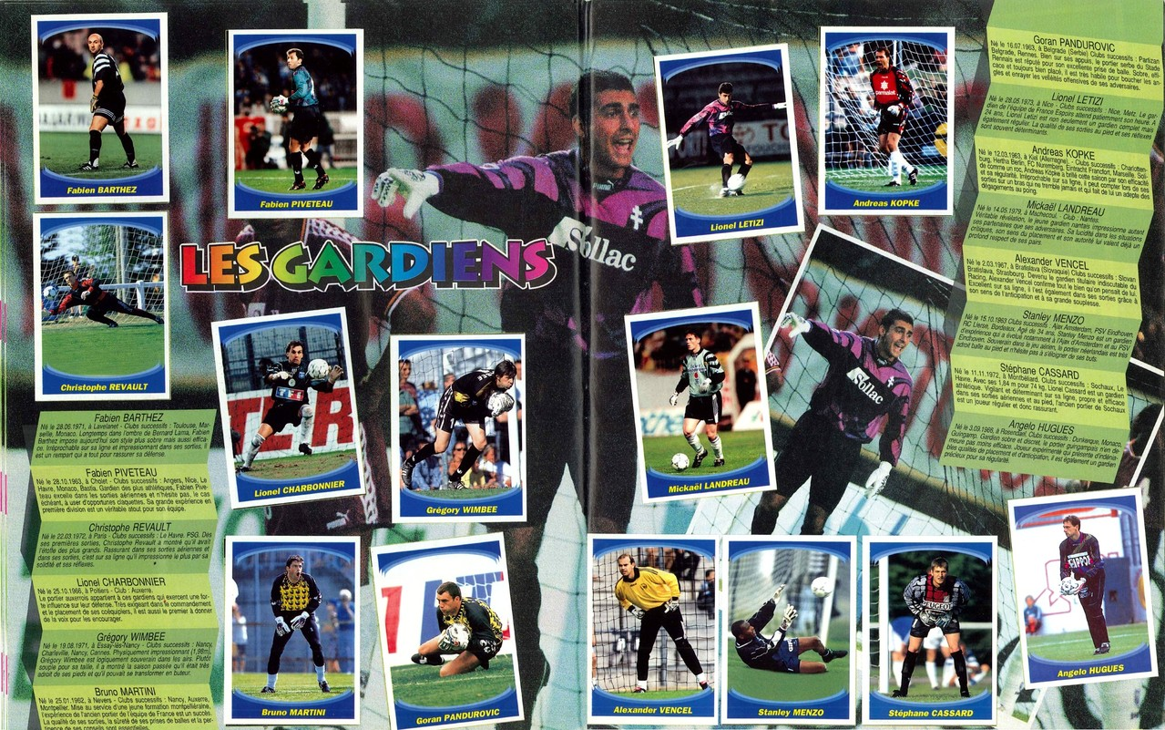 1997-98 - Panini Superfoot - Pages 04 et 05 - Les gardiens