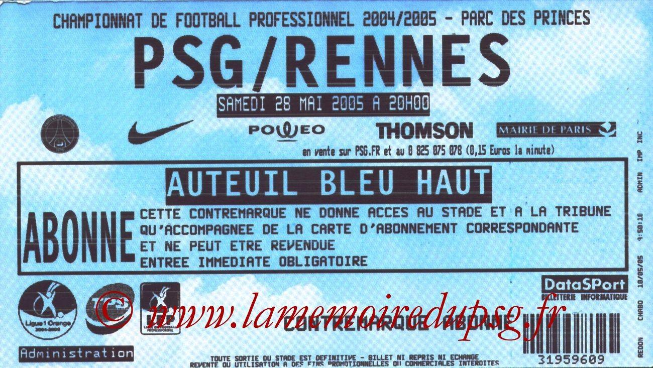 2005-05-28  PSG-Rennes (38ème L1)
