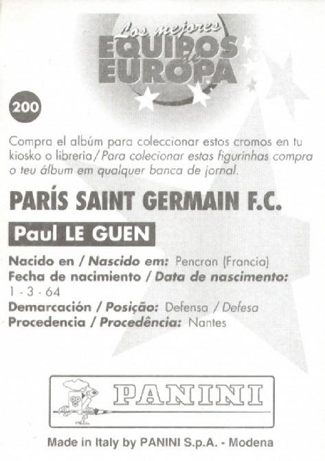 N° 200 - Paul LE GUEN (Verso)