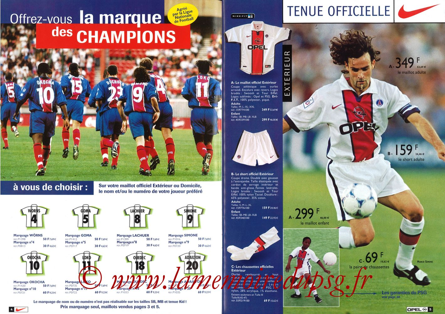Catalogue PSG - 1998-99 - Pages 04 et 05