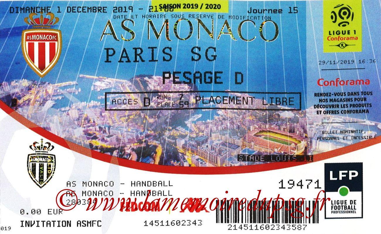 2020-01-15  Monaco-PSG (15ème L1 en retard)