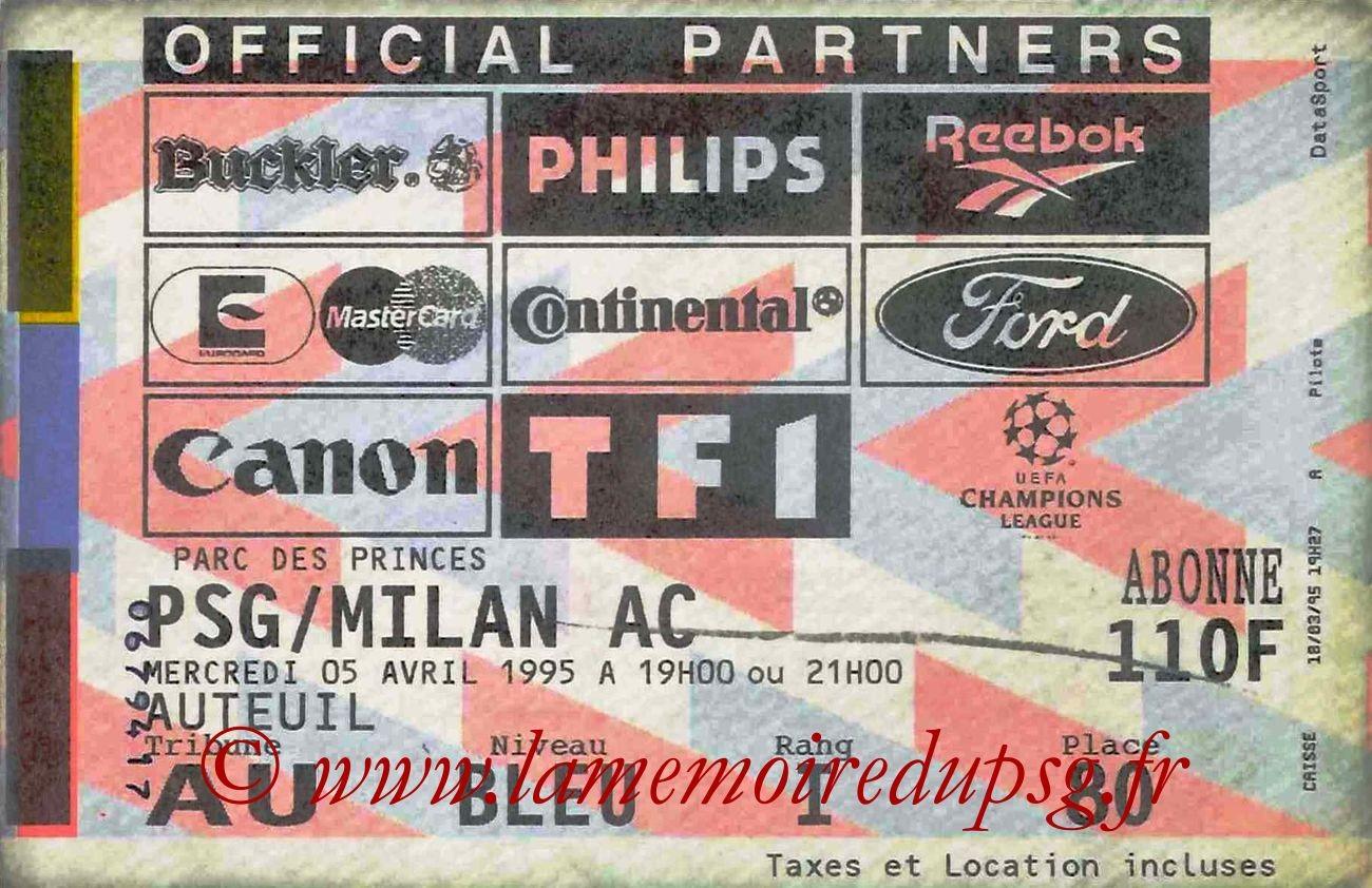 1995-04-05  PSG-Milan AC (Demi-Finale Aller C1)