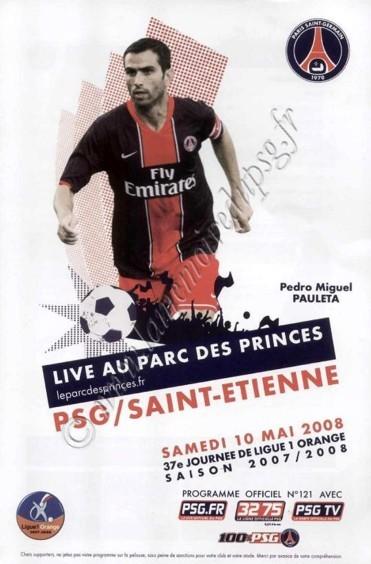 2008-05-10  PSG-Saint Etienne (37ème L1, Officiel N°121)