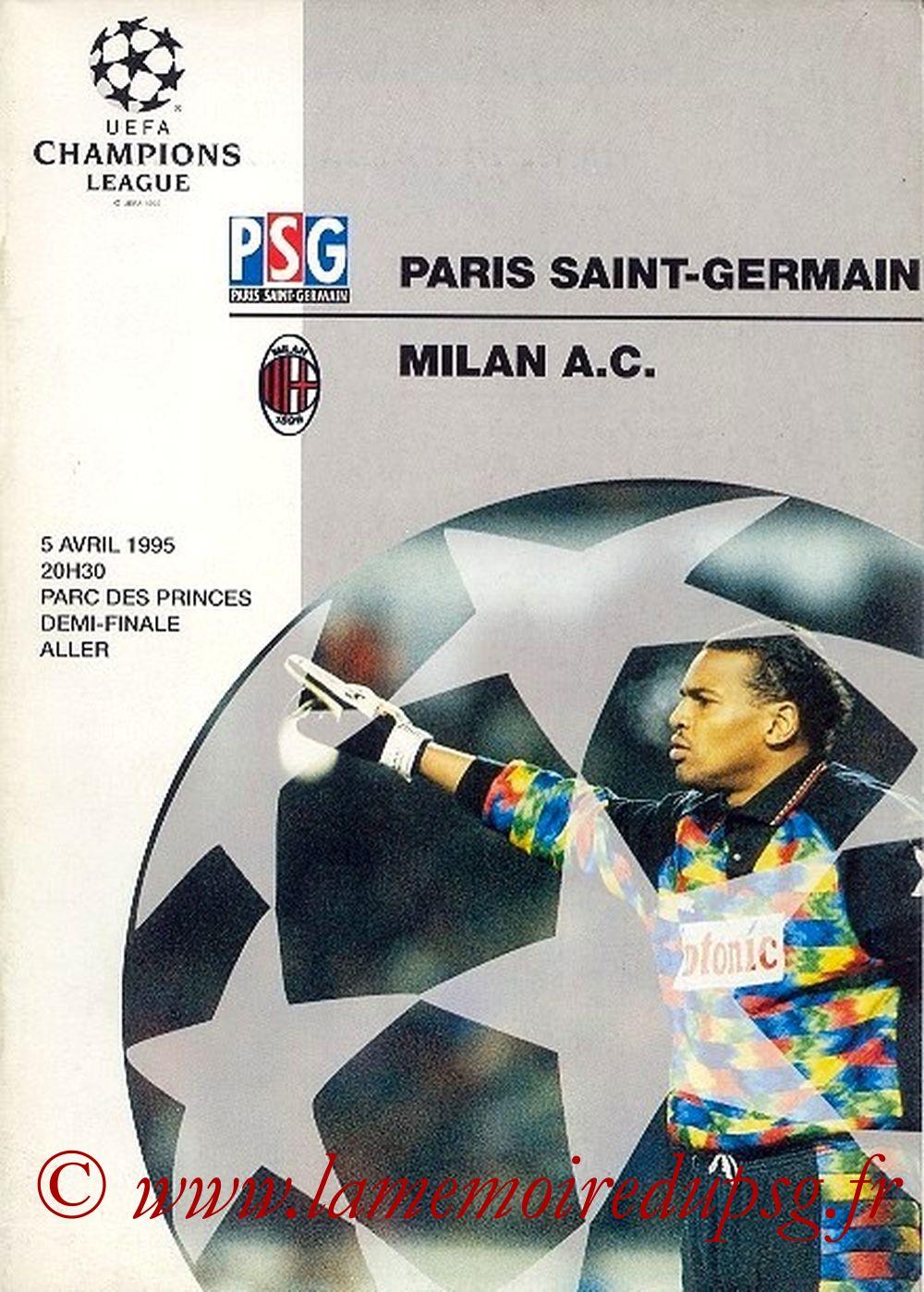 1995-04-05  PSG-Milan AC (Demi-Finale Aller C1, Officiel UEFA)