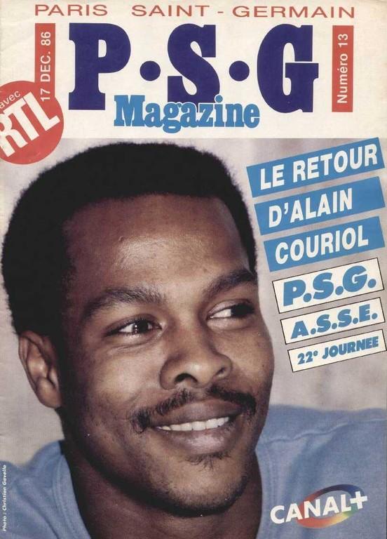 1986-12-17  PSG-Saint Etienne (22ème D1, PSG Magazine N°13)