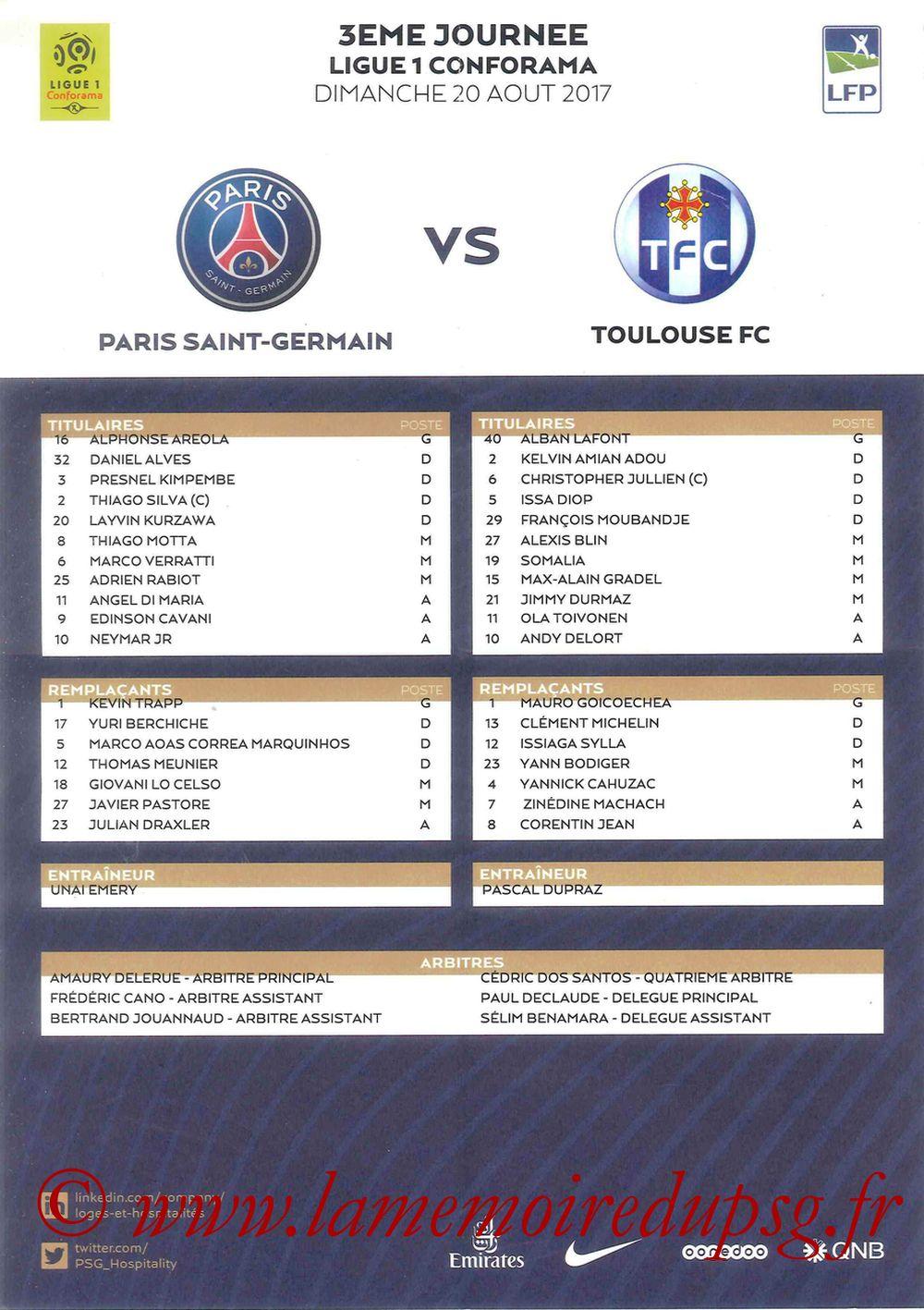 2017-08-20  PSG-Toulouse (3ème L1, Feuille de match)