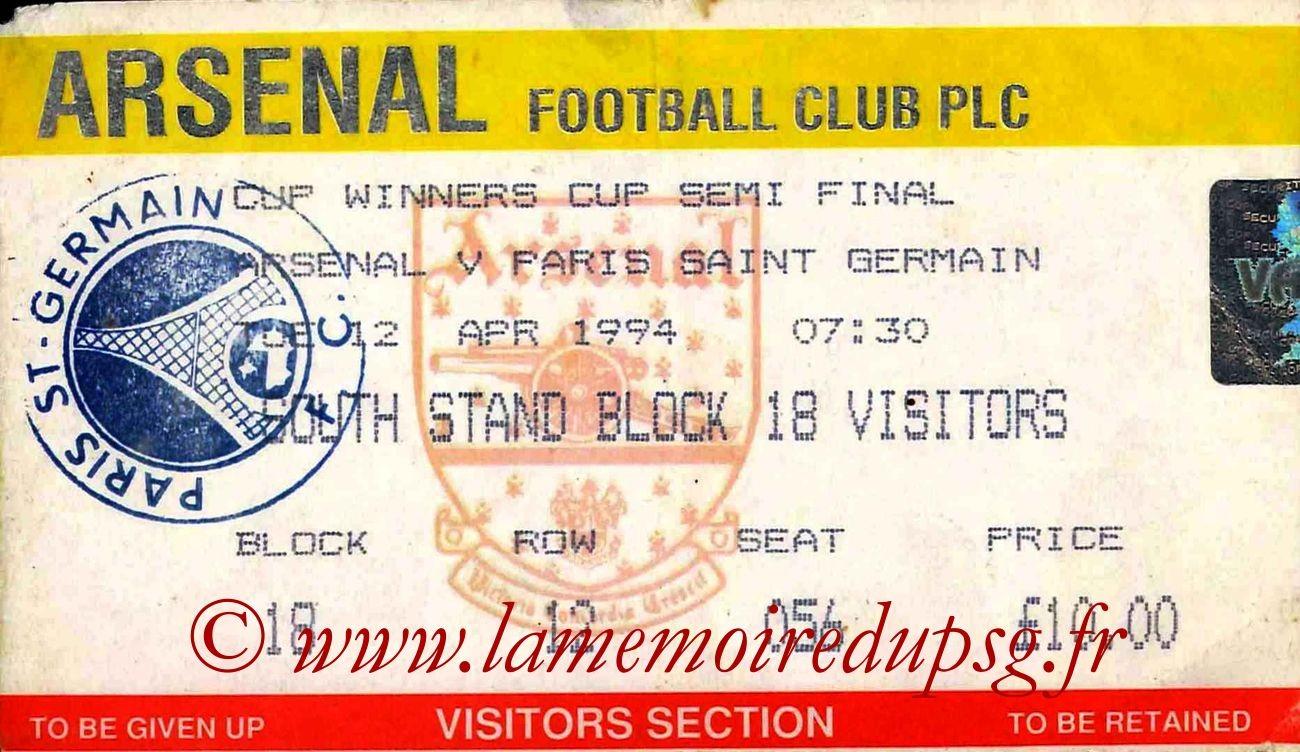 1994-04-12  Arsenal-PSG (Demi-Finale Retour C2)