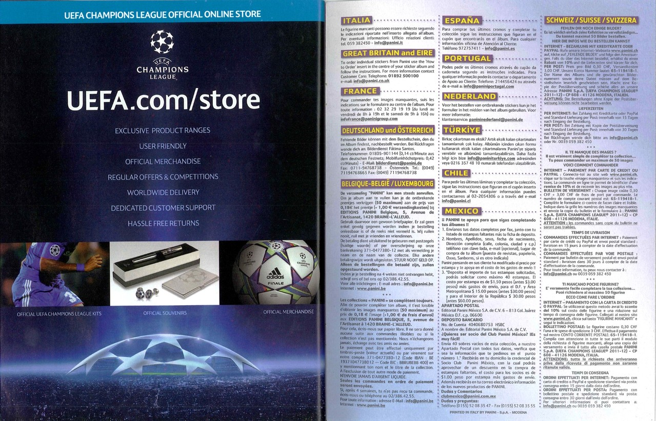 2011-12 - Panini Champions League - Pages 72 et 73