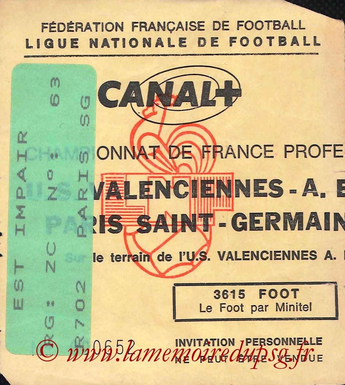 1993-02-06  Valenciennes-PSG (24ème D1, Invitation)
