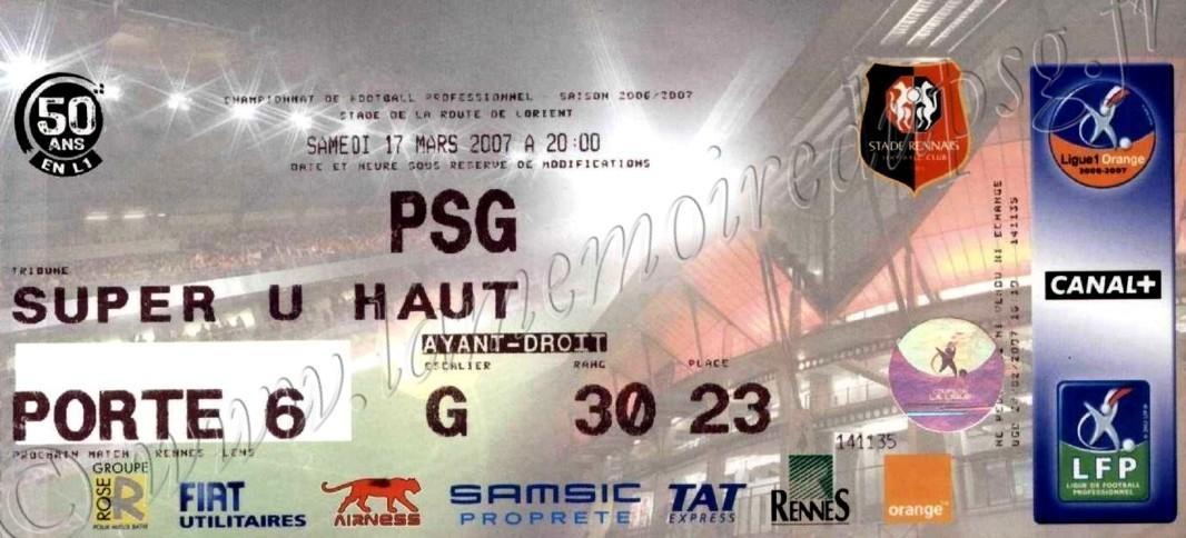 2007-03-17  Rennes-PSG (29ème L1)