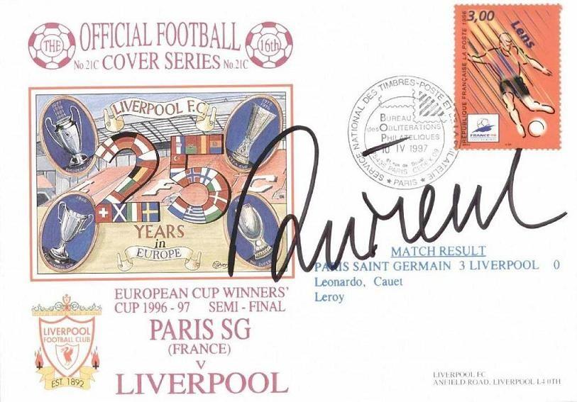 1997-04-24  Liverpool-PSG (Demi Finale retour C2, Carte postale souvenir)