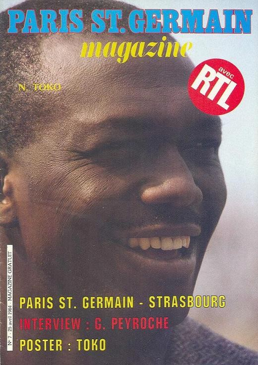 1984-04-25  PSG-Strasbourg (36ème D1, Paris St Germain Magazine N°7)