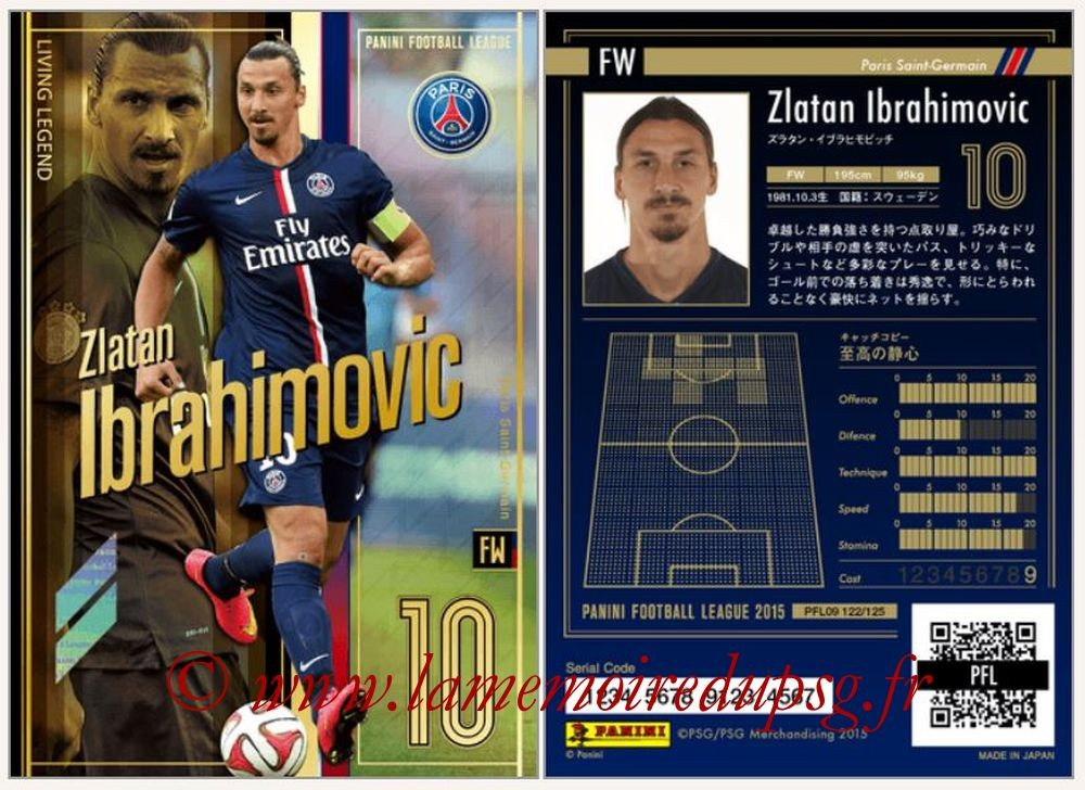 N° 122 - Zlatan IBRAHIMOVIC (Living Legend)