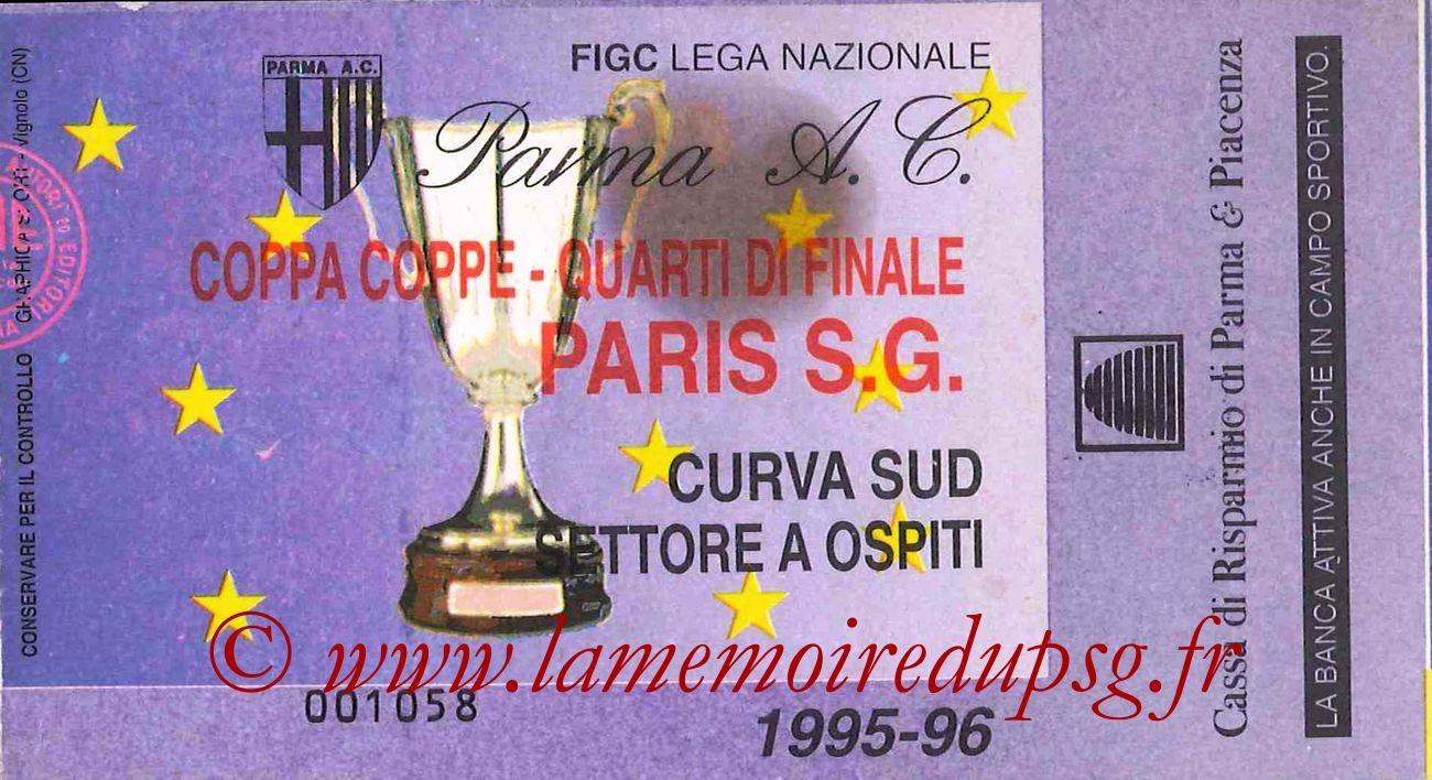 1996-03-07  Parme-PSG (Quart Finale Aller C2)