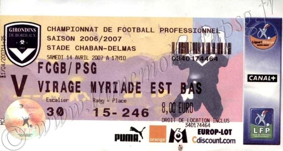 2007-04-14  Bordeaux-PSG (32ème L1)
