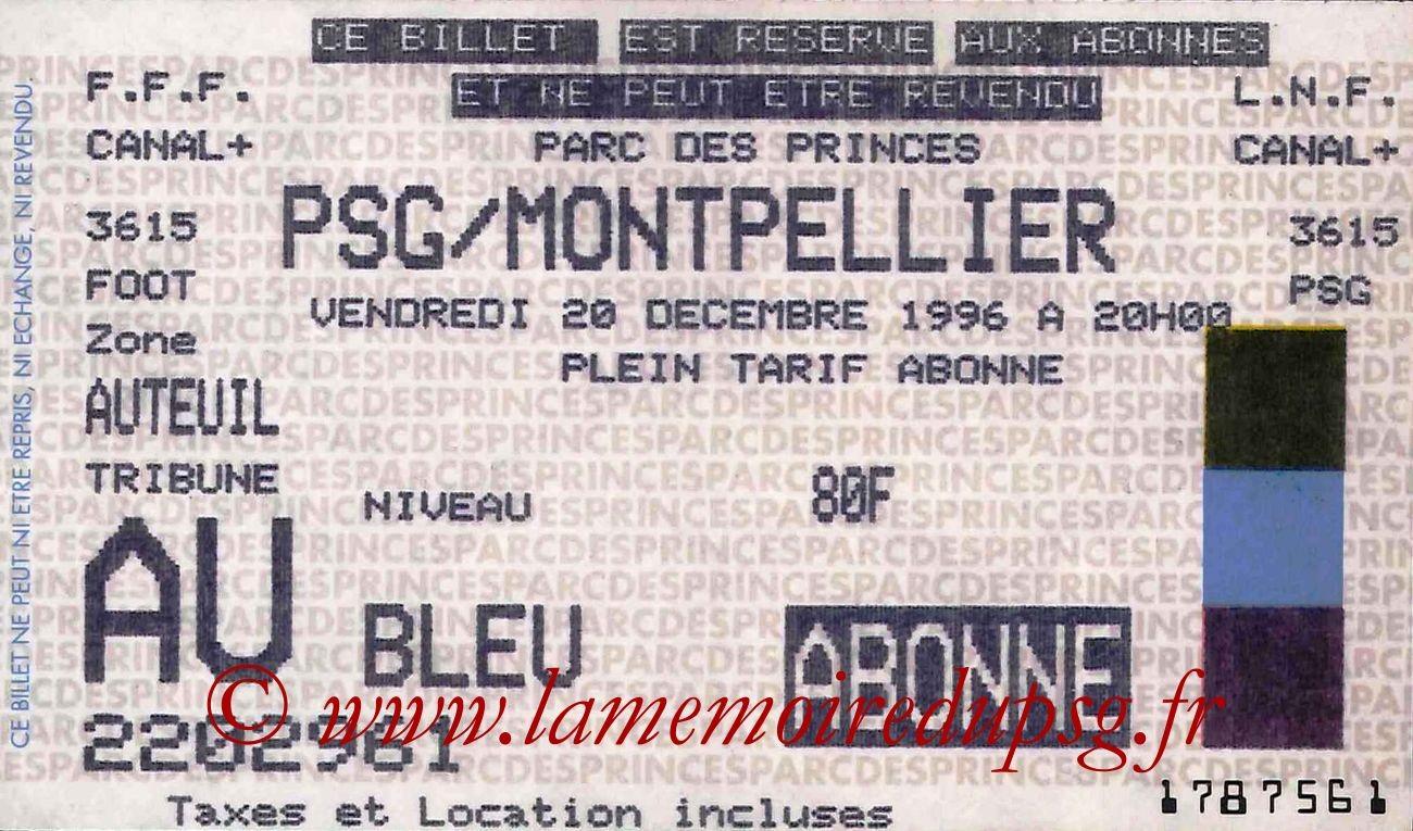 1996-12-20  PSG-Montpellier (23ème D1)