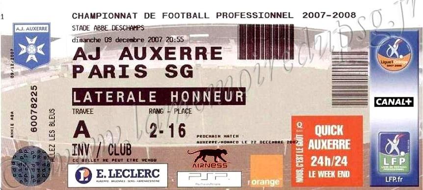 2007-12-09  Auxerre-PSG (17ème L1)