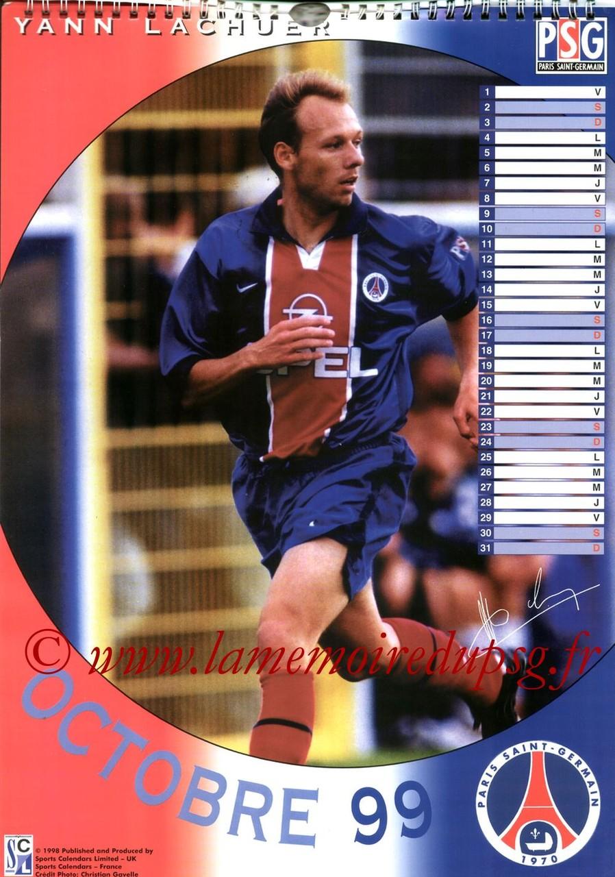 Calendrier PSG 1999 - Page 10 - Yann LACHUER