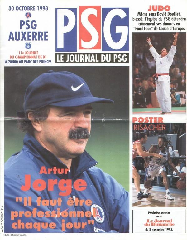 1998-10-30  PSG-Auxerre (11ème D1, Le Journal du PSG N°64)