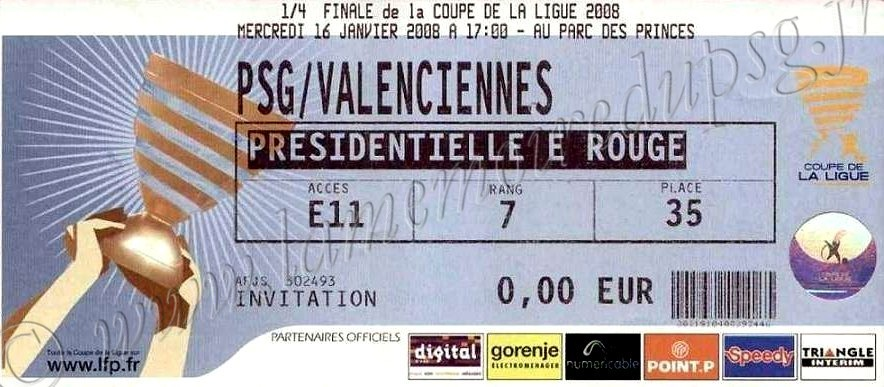 2008-01-16  PSG-Valenciennes (Quart Finale CL)