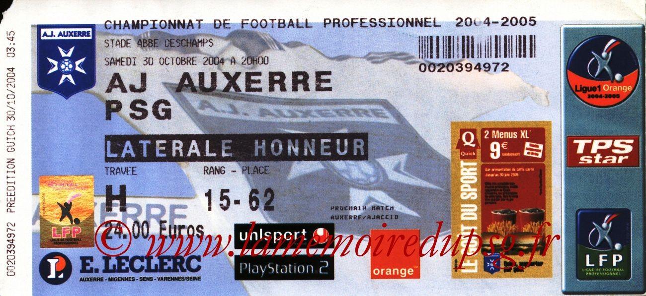 2004-10-30  Auxerre-PSG (12ème L1)