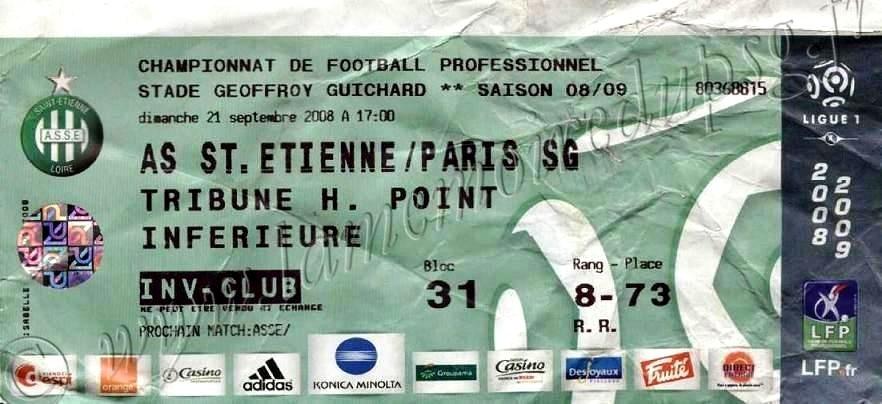 2008-09-21  Saint Etienne-PSG (6ème L1)