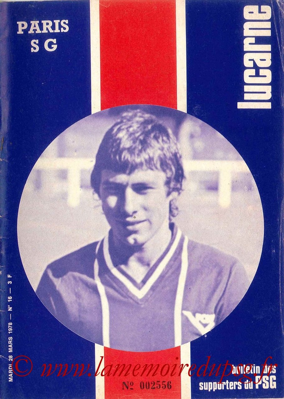 1978-03-28  PSG-Nantes (29ème D1, Match en retard, Lucarne N°16)