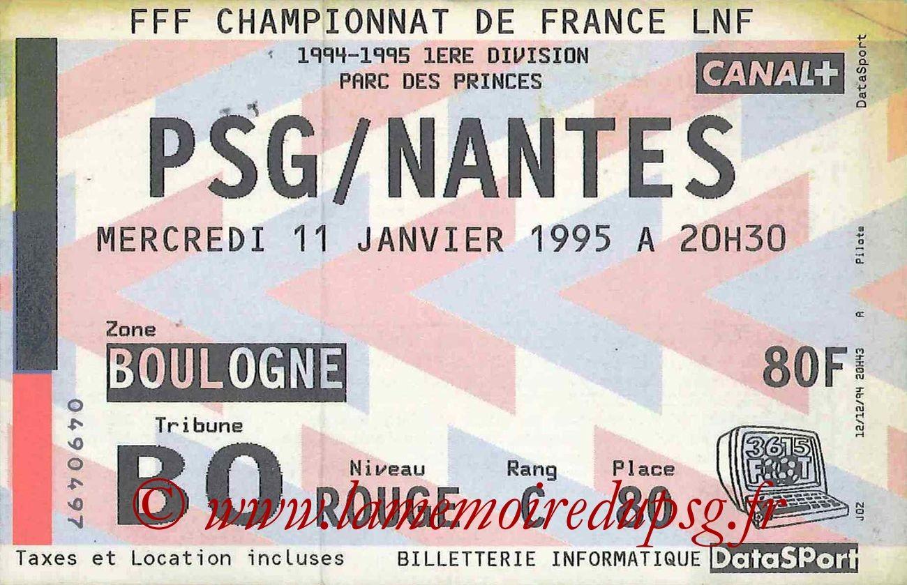 1995-01-11  PSG-Nantes (23ème D1, bis)