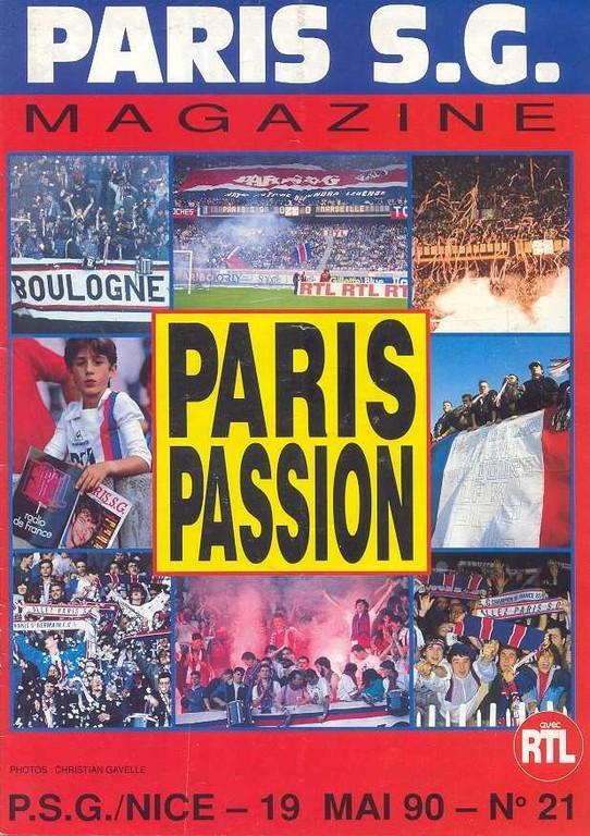 1990-05-19  PSG-Nice (38ème D1, Paris SG Magazine N°21)
