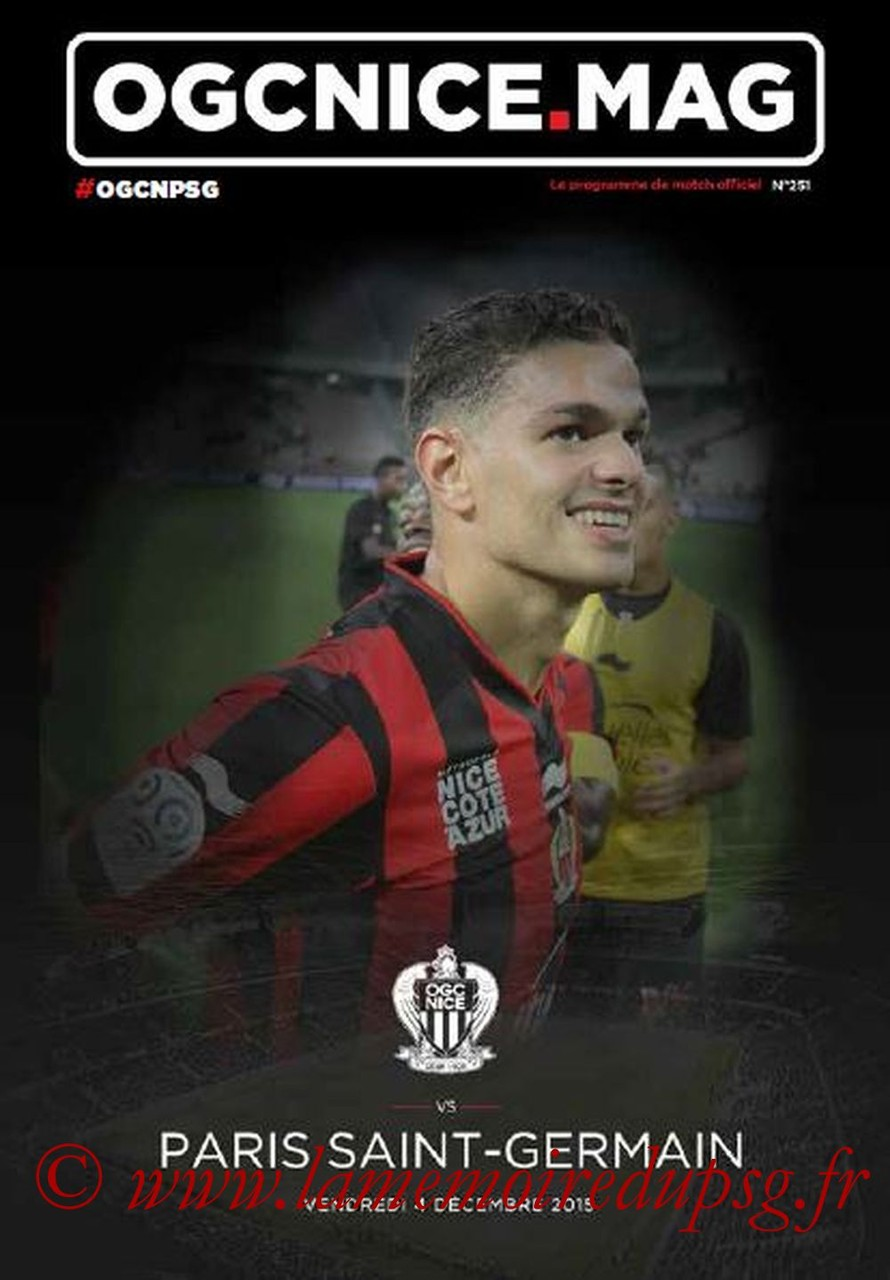 2015-12-04  Nice-PSG (17ème L1, OGC Nice mag N°251)