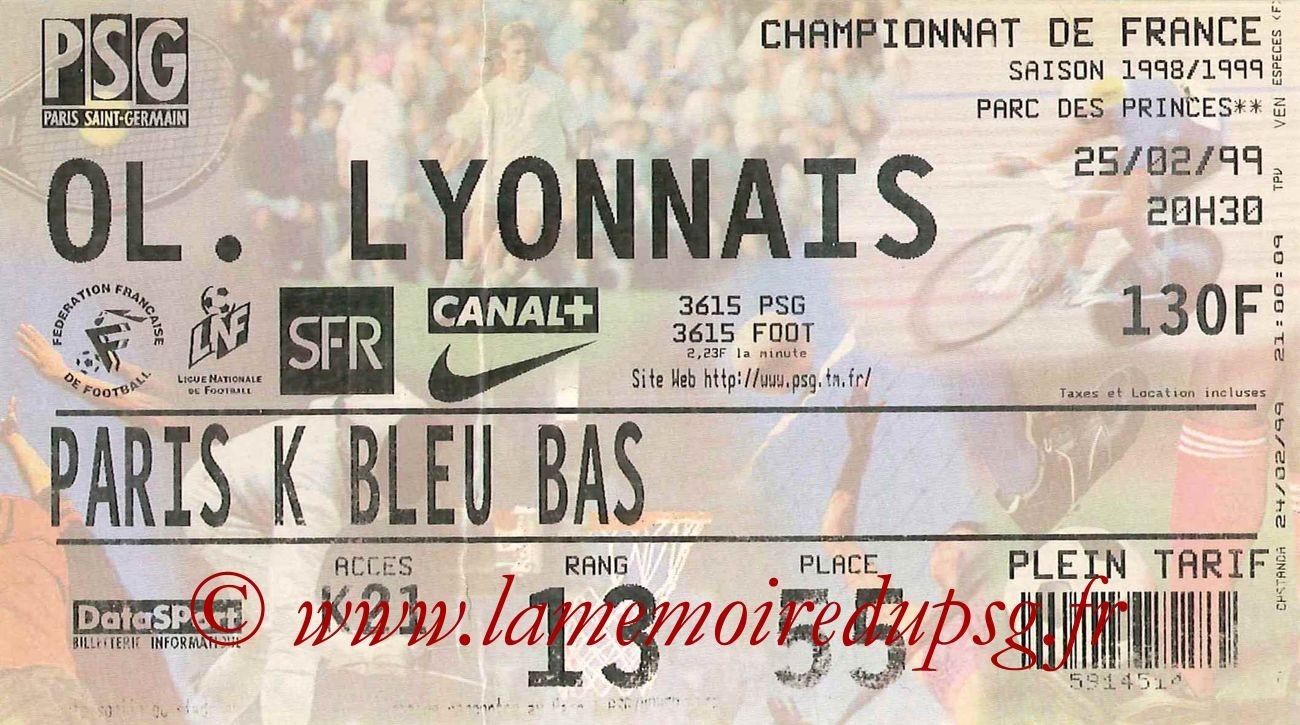 1999-02-25  PSG-Lyon (25ème D1)