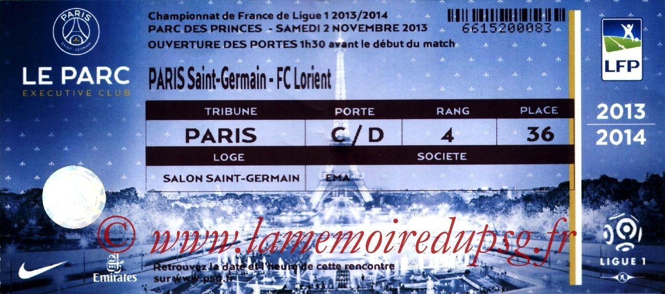 2013-11-02  PSG-Lorient (12ème L1, Loge)