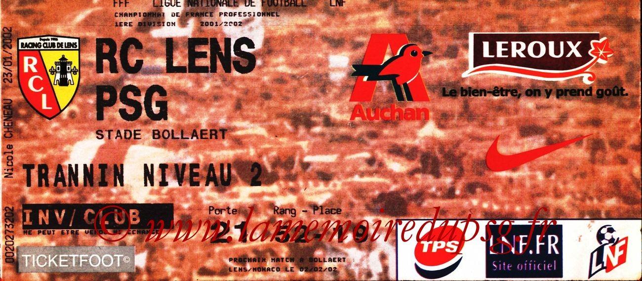 2002-01-24  Lens-PSG (22ème D1, bis)