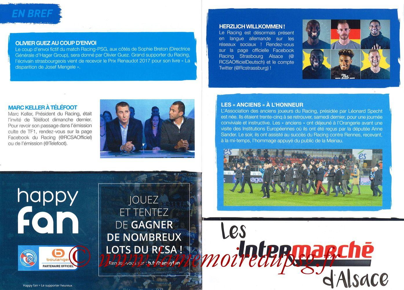 2017-12-02  Strasbourg-PSG (16ème L1, Passion Racing N°7) - Pages 06 et 07