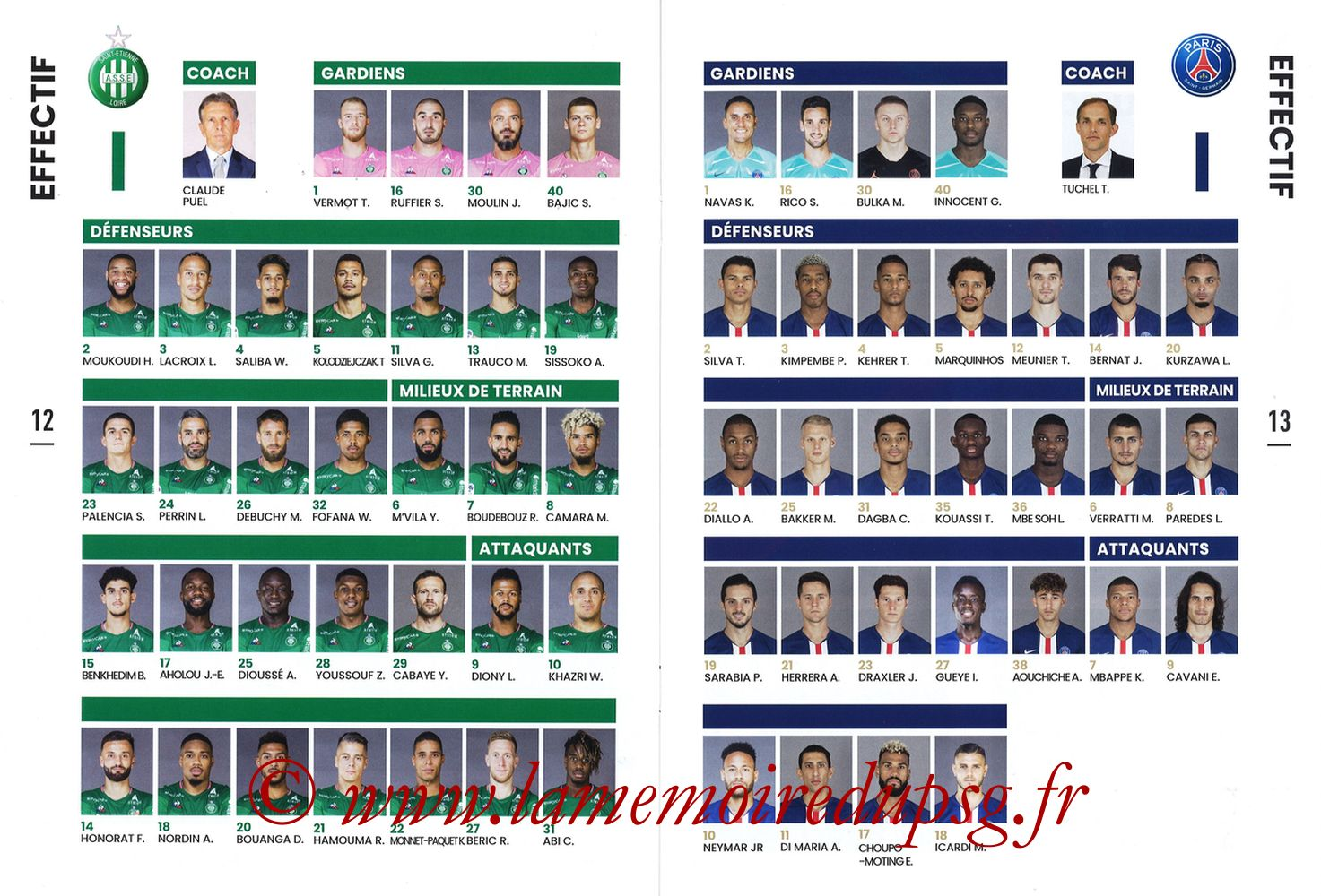 2019-12-15  Saint-Etienne (18ème L1, Maillot Vert N°31) - Pages 12 et 13