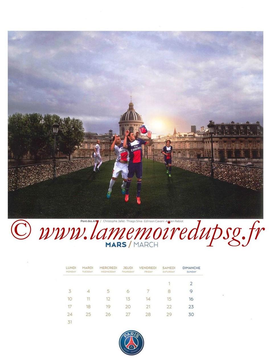 Calendrier PSG 2014 - Page 03 - Pont des Arts