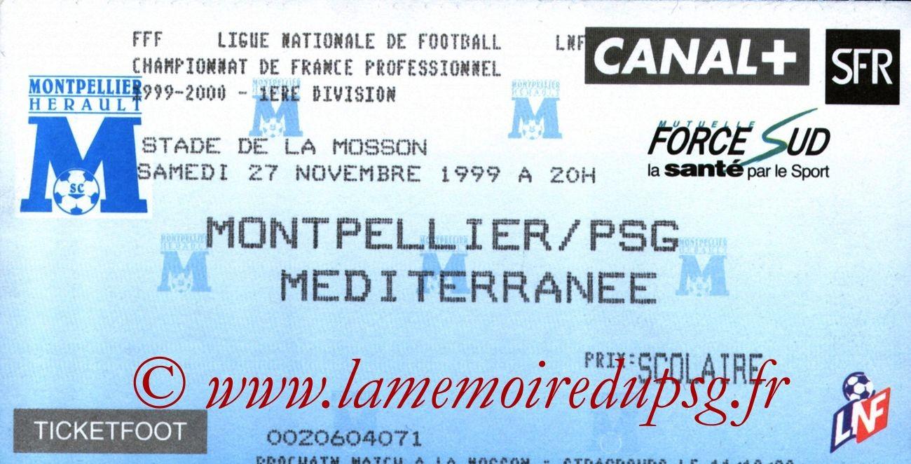 1999-11-27  Montpellier-PSG (17ème D1)