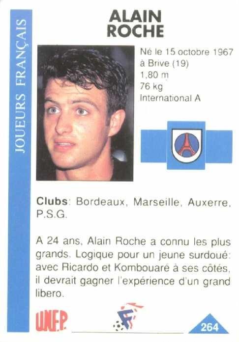 N° 264 - Alain ROCHE (Verso)
