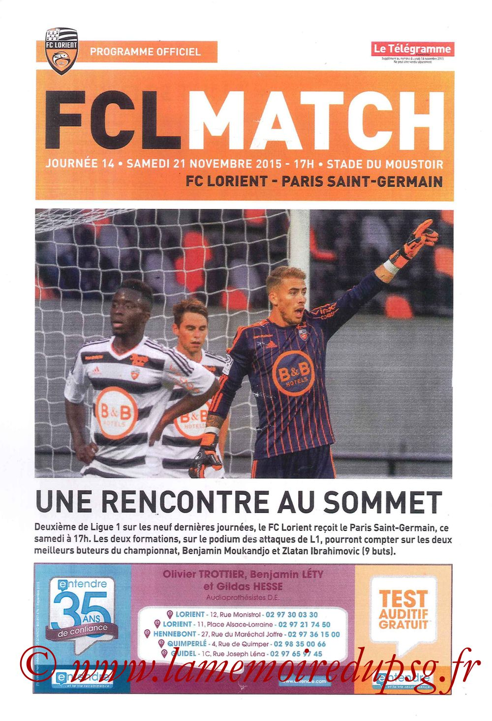 2015-11-21  Lorient-PSG (14ème L1, FCL Match)