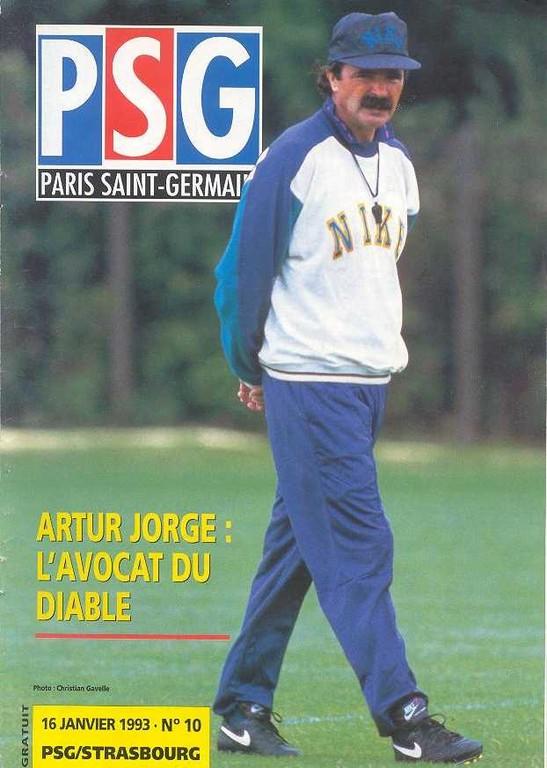 1993-01-16  PSG-Strasbourg (21ème D1,  Le Magazine PSG N°10)