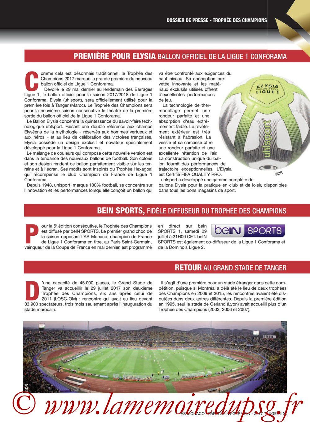 2017-07-29  Monaco-PSG (Trophée des Champions à Tanger, Dossier de Presse) - Page 03
