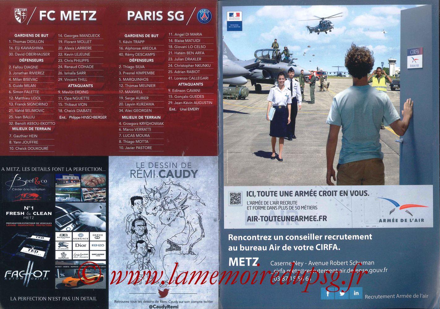 2017-04-18  Metz-PSG (31ème L1 en retard, La Gazette de Saint-Symph) - Pages 6 et 7