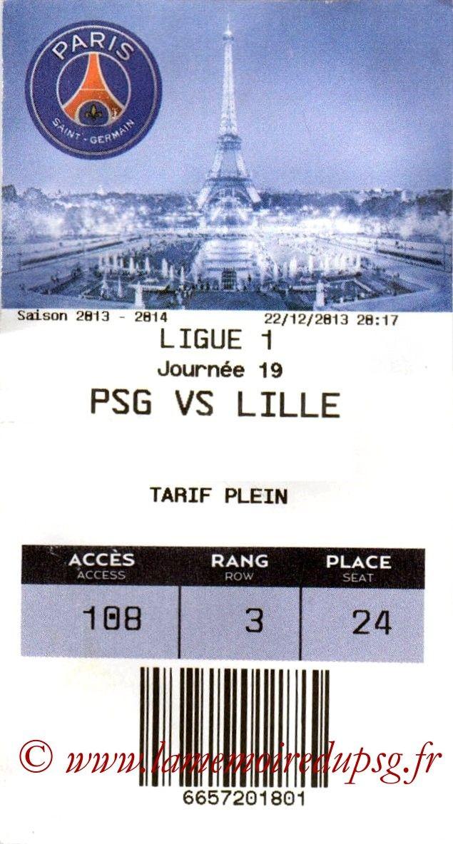 2013-12-22  PSG-Lille (19ème L1, E-Ticket)