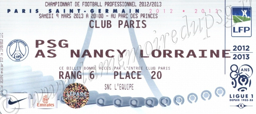 2013-03-09  PSG-Nancy (28ème L1, Club Paris)
