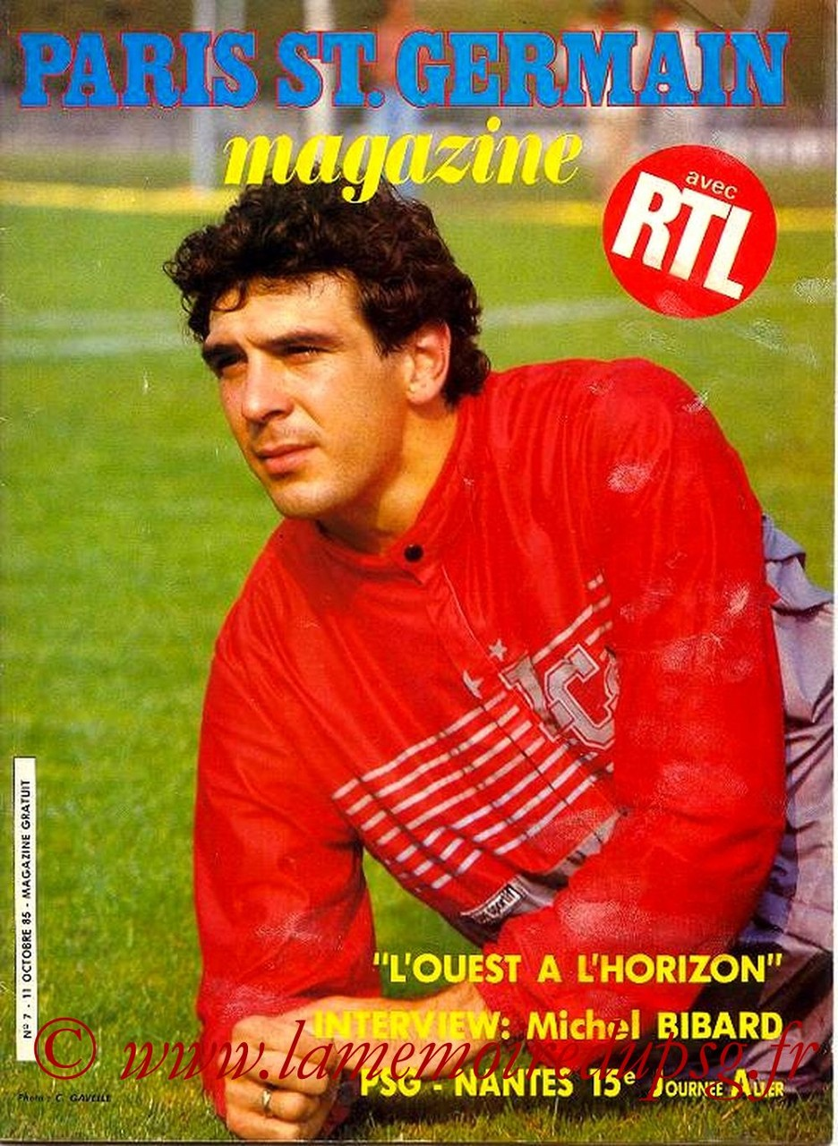 1985-10-11  PSG-Nantes (15ème D1, Paris St Germain Magazine N°7)